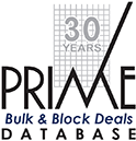 BLOCK & BULK DEAL DATABASE